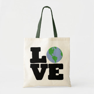 Love Earth (black text) Budget Tote Bag