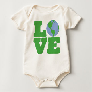 LOVE Earth (green text) Baby Bodysuit