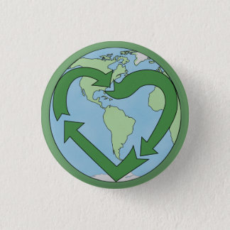 Love Earth, Recycle 3 Cm Round Badge