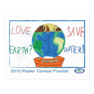 Love Earth? Save Water Postcard