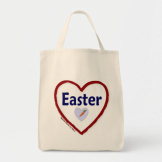 Love Easter Grocery Tote Bag