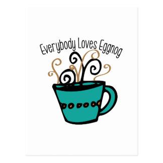 Love Eggnog Postcard