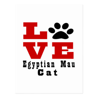 Love Egyptian Mau Cat Designes Postcard