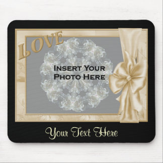 Love Elegant Frame Add Photo Mousepad