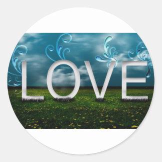 love-elegant round sticker