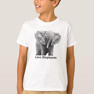Love Elephants Kids T-Shirt