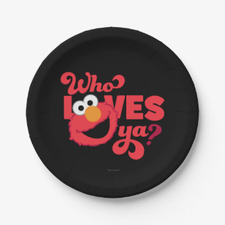 Love Elmo Paper Plate