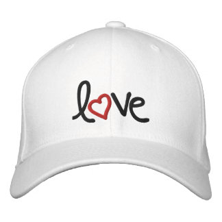 love embroidered baseball caps