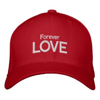 LOVE EMBROIDERED BASEBALL CAP