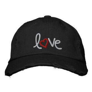 love embroidered baseball cap