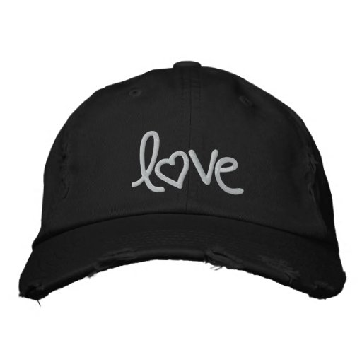 love embroidered hats
