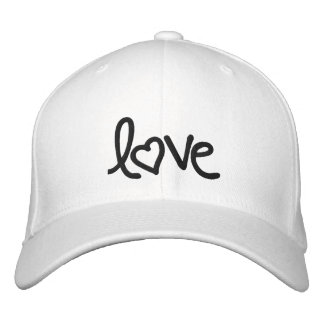 love embroidered hat