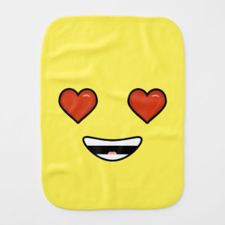 Love Emoji Burp Cloth