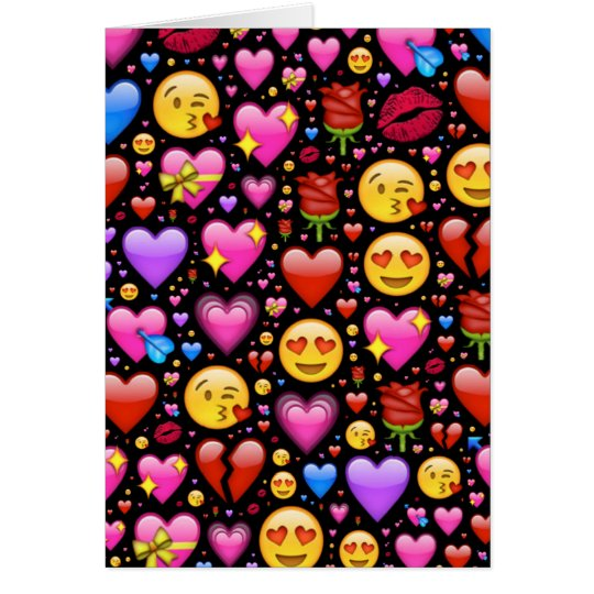 Love Emoji Customised Card