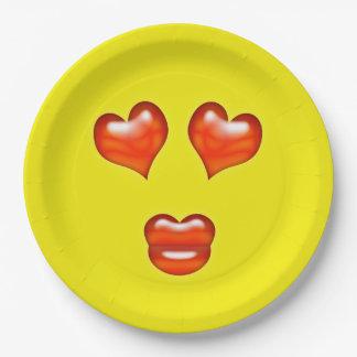 Love Emoji Paper Plate