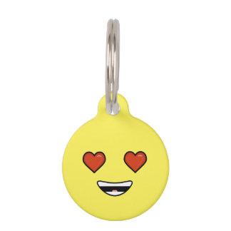 Love Emoji Pet Name Tag