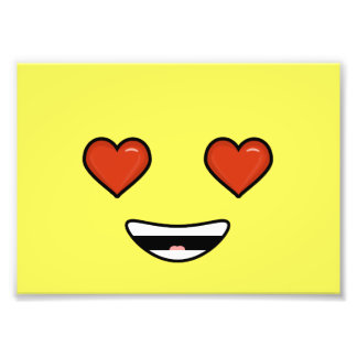 Love Emoji Photographic Print