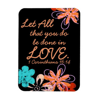 Love encouragement bible verse 1 Corinthians Rectangular Magnets
