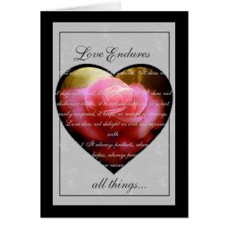 Love Endures Note Card
