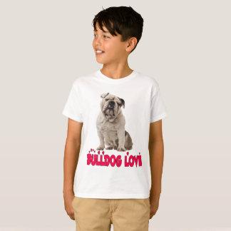 Love English Bulldog Puppy Dog Kids T-Shirt