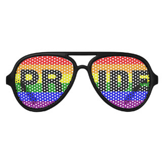 Love Equality Gay Pride Rainbow Flag Colors Aviator Sunglasses