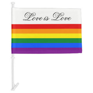 Love Equality Rainbow Flag LGBT Lesbian Gay Pride Car Flag