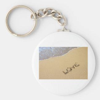 Love etching basic round button key ring