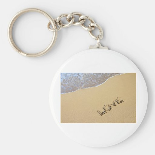 Love etching key chain