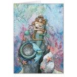 Love Eternal Mermaid and Baby Greeting Card