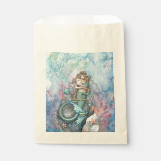 Love Eternal Mother and Baby Mermaids Fantasy Art Favour Bags