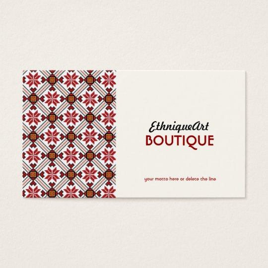 Love Ethnic Pattern Business Card