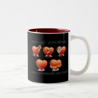 Love eventually succeeds. Two-Tone mug