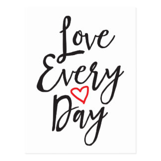 Love Every Day Postcard