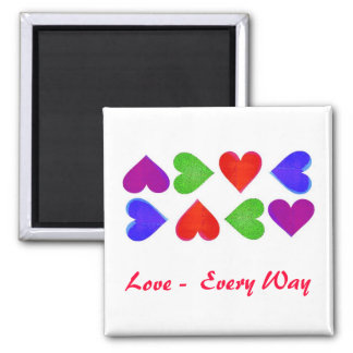 Love - Every Way Square Magnet
