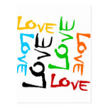 Love Every Which Way In 6 Colours Postcards