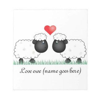 Love ewe sheep notepad