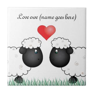 Love ewe sheep tile