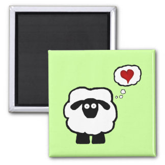 Love Ewe Square Magnet