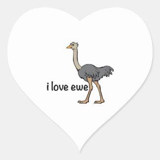 Love Ewe Heart Sticker