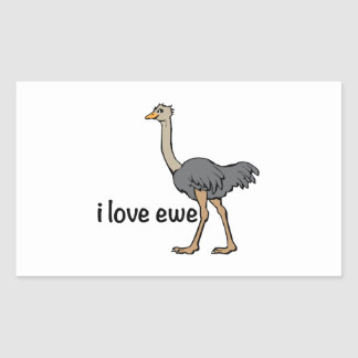 Love Ewe Rectangular Sticker