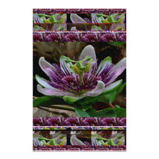 Love Expressions - Flowers Exotic Red Purple Wild Custom Stationery
