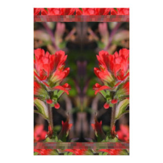 Love Expressions - Flowers Exotic Red Purple Wild Stationery Design