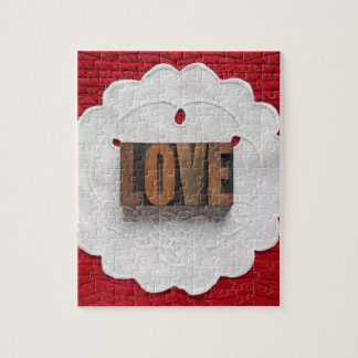 Love fabric jigsaw puzzle