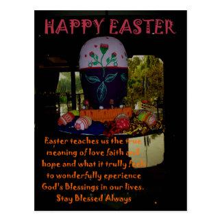 Love Faith Hope Easter Wishes Postcard