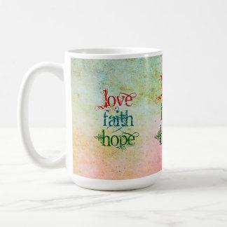 LOVE FAITH HOPE BASIC WHITE MUG