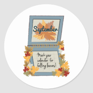 Love Fall Round Stickers