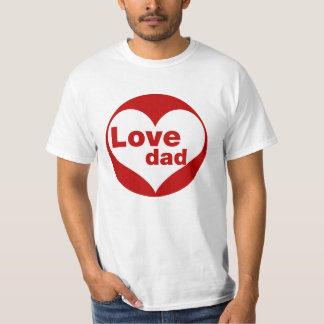 Love Family Couple T-Shirt For Dad