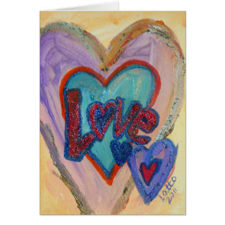 Love Family Hearts Greeting Card or Note Cards