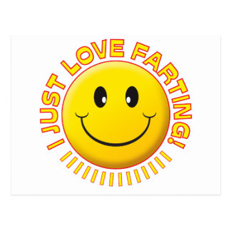 Love Farting Smiley Post Cards