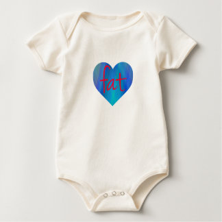 Love Fat (Blue and Red) Baby Bodysuit